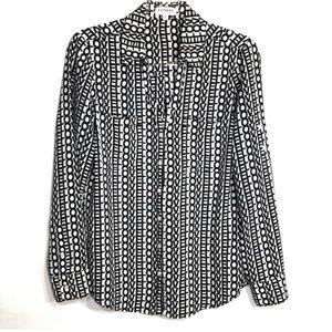Express Portofino LOVE Button Front Shirt 🐸